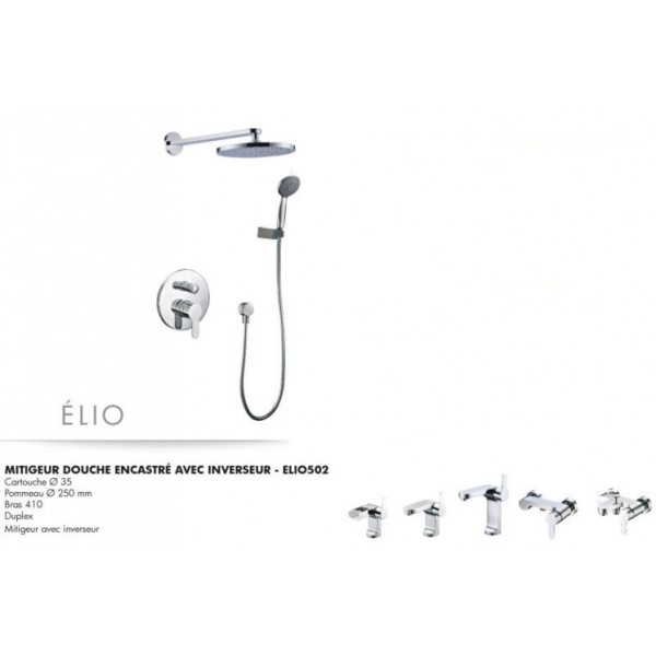 Mitigeur douche encastré avec inverseur Elio