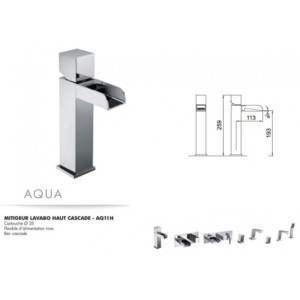 Mitigeur lavabo haut cascade Aqua