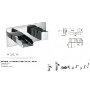 Mitigeur lavabo encastré cascade Aqua