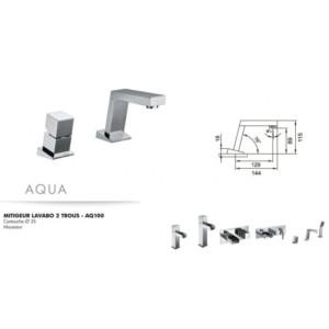 Mitigeur lavabo 2 trous Aqua
