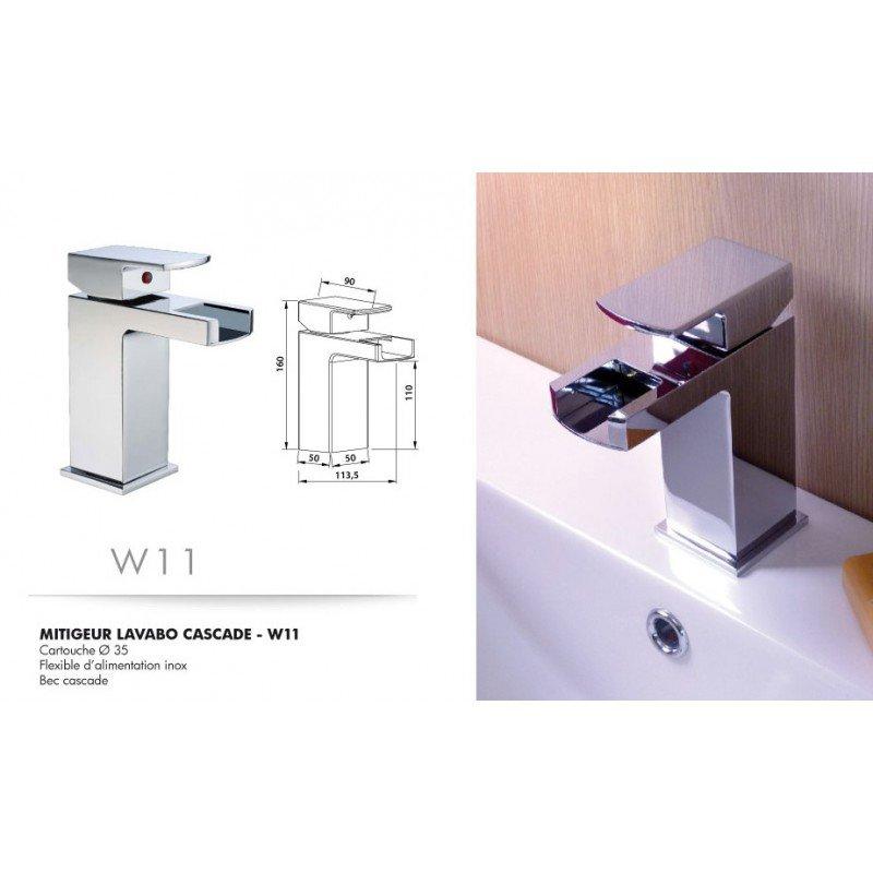 robinet mitigeur lavabo cascade w11 exposition de salles de bain cuisines robinetterie et. Black Bedroom Furniture Sets. Home Design Ideas