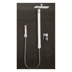 Colonne de douche carrée pour mitigeur encastré