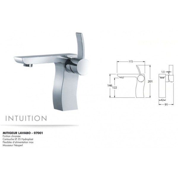 Mitigeur lavabo Intuition