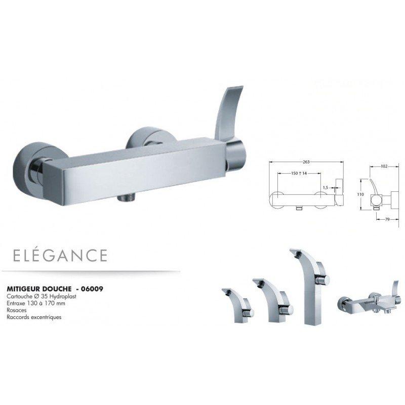 robinet mitigeur douche el gance exposition de salles de bain cuisines robinetterie et. Black Bedroom Furniture Sets. Home Design Ideas
