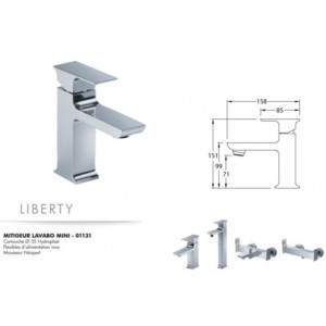 Mitigeur lavabo mini Liberty