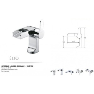 Mitigeur lavabo cascade Elio