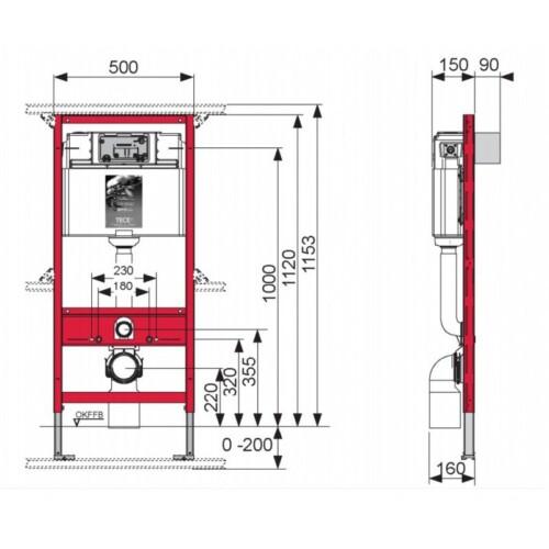 ch ssis pour wc suspendu tece exposition de salles de bain cuisines robinetterie et carrelages. Black Bedroom Furniture Sets. Home Design Ideas