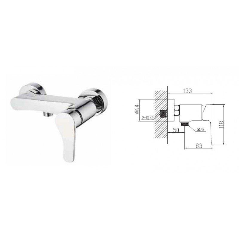 robinet mitigeur douche gala exposition de salles de bain cuisines robinetterie et carrelages. Black Bedroom Furniture Sets. Home Design Ideas