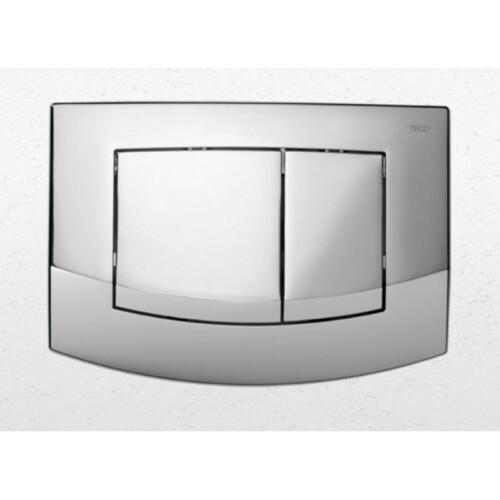 Plaque de d clenchement chrom brillant teceambia exposition de salles de bain cuisines for Plaque renovation salle de bain