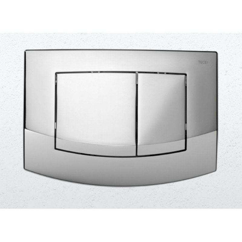 Plaque de d clenchement chrom brillant teceambia - Plaque de carrelage salle de bain ...