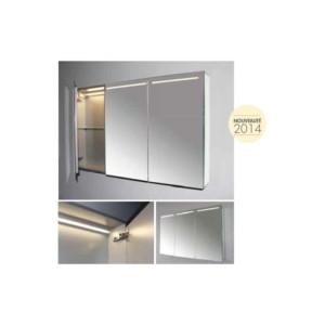 Armoire-miroir tryptique à LED Luce 70