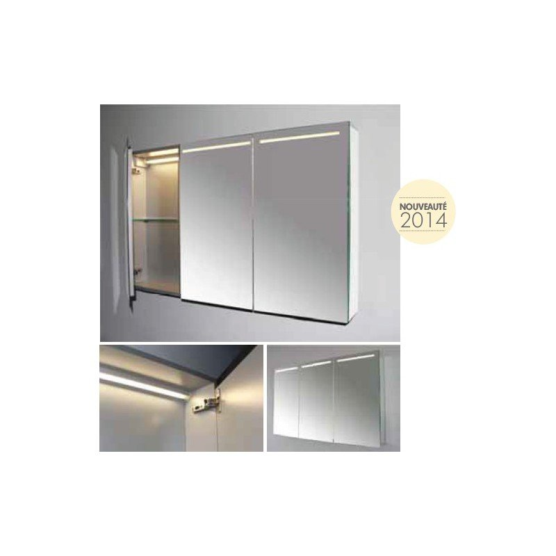 armoire miroir tryptique led luce 70 exposition de salles de bain cuisines robinetterie et. Black Bedroom Furniture Sets. Home Design Ideas