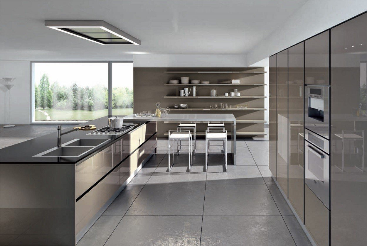 Modele de cuisines equipees petite cuisine ouverte avec bar cuisine quipe modle nature Modele cuisine equipee