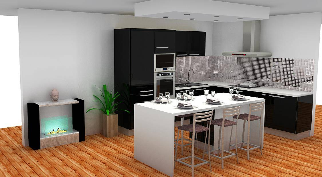 cuisine milly avec ilot exposition de cuisines pas cher. Black Bedroom Furniture Sets. Home Design Ideas