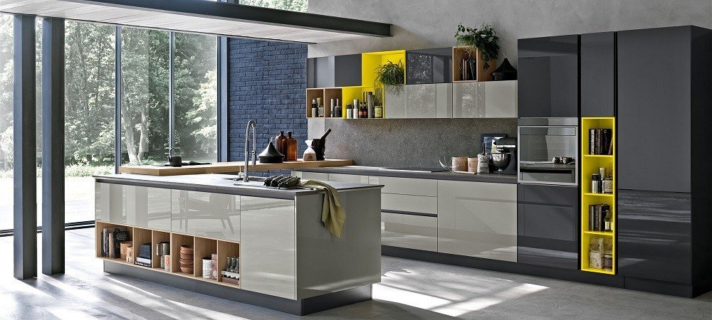 cuisine moderne aleve avec poignee 162