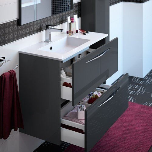 salle de bain slim faible profondeur 40 cm 2 plans vasque. Black Bedroom Furniture Sets. Home Design Ideas